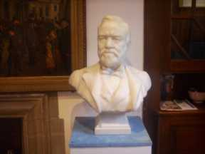 Bust of Andrew Carnegie at Museum