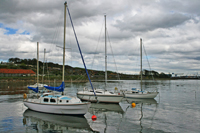 Boats in Limekilns Harbour