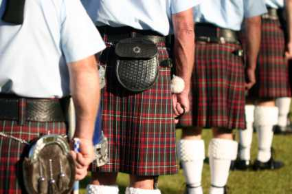 Pipers in Highland Dress