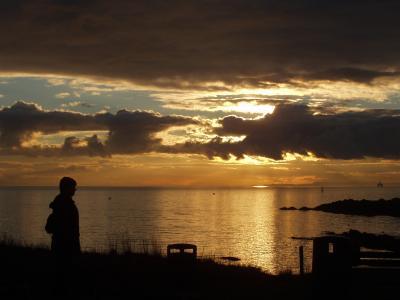 Sunset over Elie