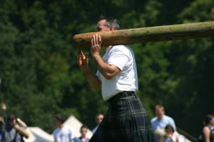 poles tossed by scots
