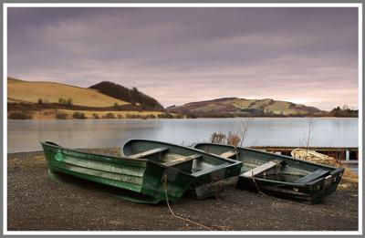 Boats at Lindores Loch