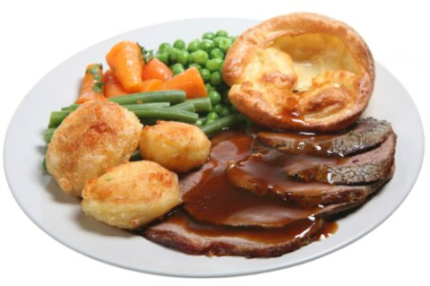 Authentic Scottish Food Recipe - roast beef and yorkshire pudding