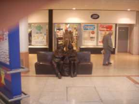 Sculpture Seat within the Kingdom Shopping Centre