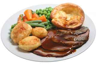 North Fife - Roast Beef and Yorkshire Pudding and vegetables
